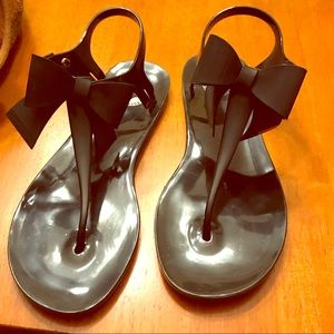 BCBG generation Jellies Flat Sandals with Bows